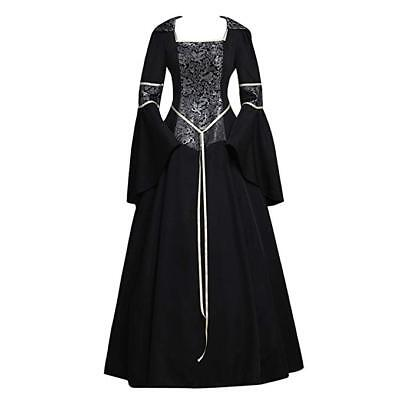 CosplayDiy Women's Medieval Gothic Witch Vampire Costume Dress XL (Female Witch Doctor Costume)