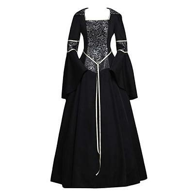 CosplayDiy Women's Medieval Gothic Witch Vampire Costume Dress XL