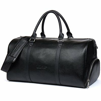 Outdoor Sports Gym Leather Duffel Bag Weekender Overnight Luggage For Men Women
