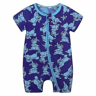 Bunny Pajamas For Kids (Kids Tales Summer Baby Boy Short Sleeve Bunny Pajamas Zipper)