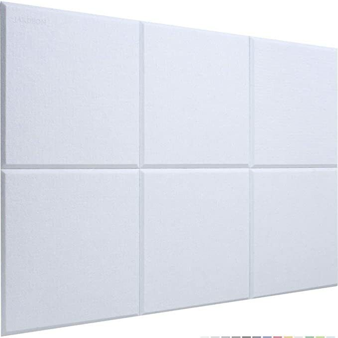 JARDEON Acoustic Panels White Sound Proof Padding for Wall Decoration and Noi...
