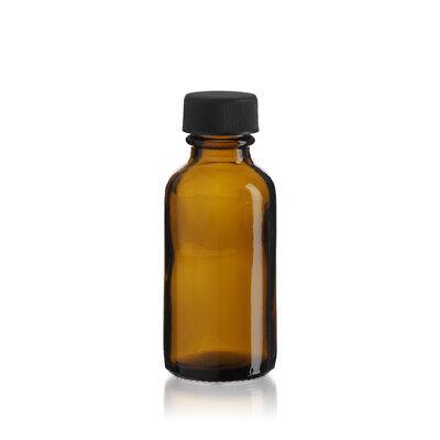 Amber 1 Oz 30ml Boston Round Glass Bottle W Capschoose Quantity