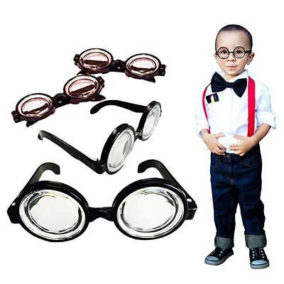 Black Round Nerd Specs Glasses Halloween Costume Harry Potter - Nerd Costume Accessories
