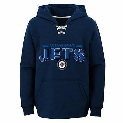 NHL Boys Winnipeg Jets Hoodie Pullover Sweatshirt NEW Size 5/6 Navy Blue  Navy Blue Nhl Sweatshirt