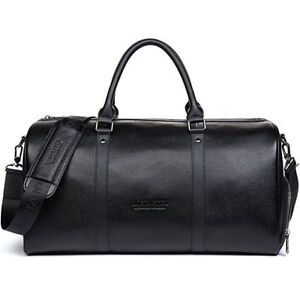 Men Genuine Leather Outdoor Gym Duffel Bag Travel Weekender Overnight  Luggage e9b43d363c