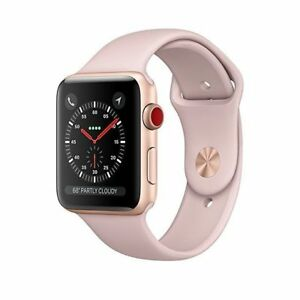 Apple Watch Series 3 - GPS Cellular - Gold Aluminum Case 42mm