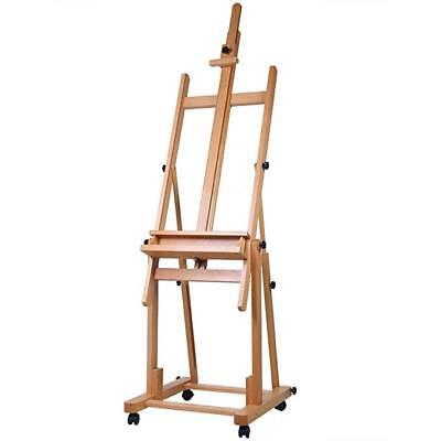 Master Multi-Function Studio Artist Wood Floor Easel, Adjusts From 80 to142 Inch ()