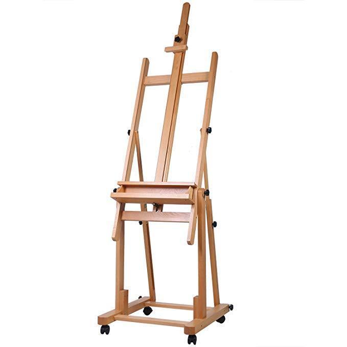 Master Multi-Function Studio Artist Wood Floor Easel, Adjust