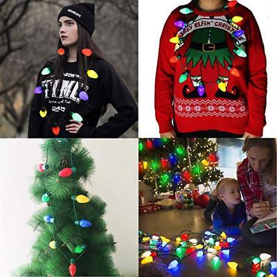 LED Light Up Christmas Bulb Necklace Party Xmas Gift ideas Jewelry Necklace New - Christmas Jewelry Ideas