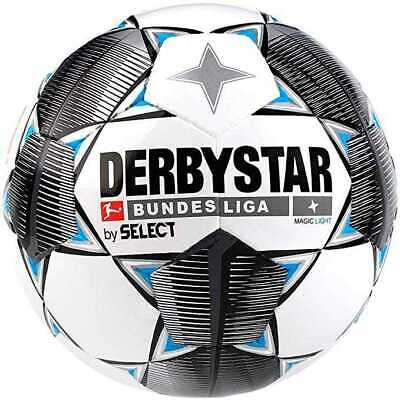 Derbystar - Magic Light, Bundesliga Fußball, Weiß/Blau/Schwarz, Gr. 5
