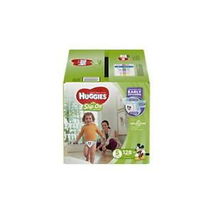 New Huggies Little Movers Slip on Diapers Size 5, 128ct