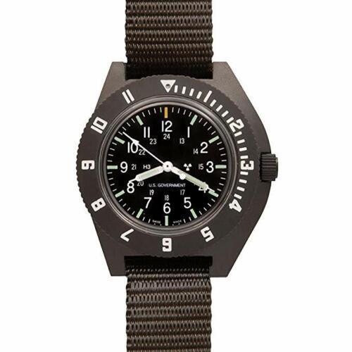 US Military Issue Pilot Navigator Aviation US Gov. Dial Watch Marathon Green H3
