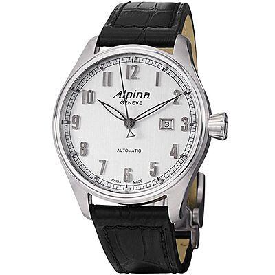 New Alpina Men's AL525SC4S6 Aviation Analog Display Swiss Automatic Mens Watch
