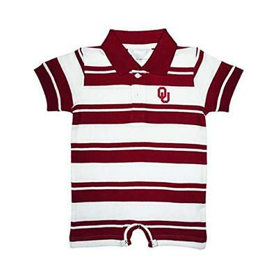 - NCAA Oklahoma Sooners Red & White Rugby Romper Two Feet Ahead Select Size Below