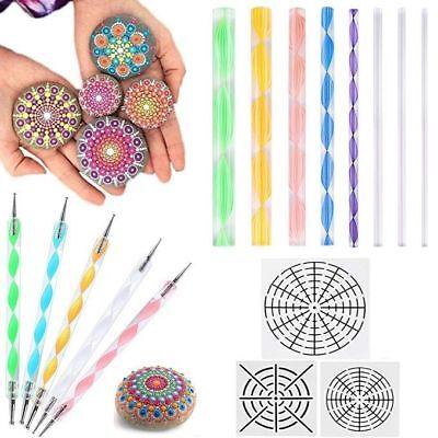 16pcs Mandala Dotting Tools for Rock Painting Kit Dot Art Rock Pen Paint Stencil](Mandala Crafts)