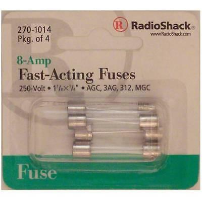 Fast-acting 8-amp 250-volt Agc3ag312mgc Glass Fuses 1-14 X 14 8a 250v 4pk