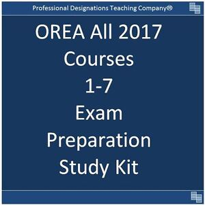 OREA 2017 Courses 1 to 7 Complete Study Package