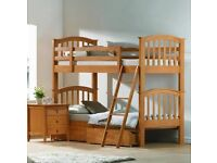 3ft Maple Wood Bunk Beds