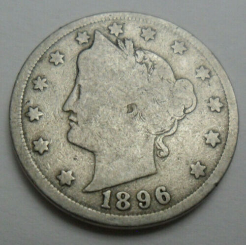 """1896 P LIBERTY HEAD """"V"""" NICKEL  *AG OR BETTER*  **FREE SHIPPING**"""
