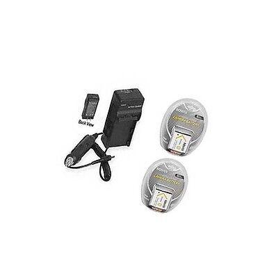 Two 2 Batteries + Charger For Sony Dsc-w510 Dsc-w510b Dsc...