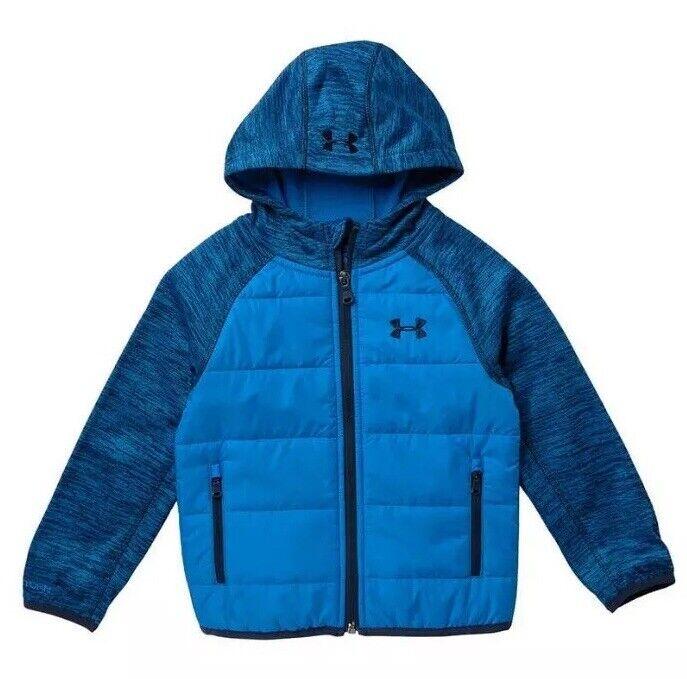NWT Under Armour Little Boys 3T 4T UA Storm Day Trekker Hooded Jacket Blue New
