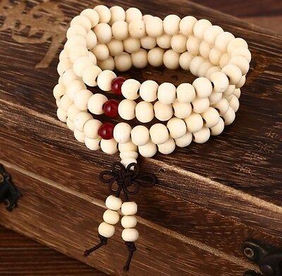 Tibetan Mala Sandalwood 108 8MM Buddhist Prayer Bead Mala Necklace/Bracelet