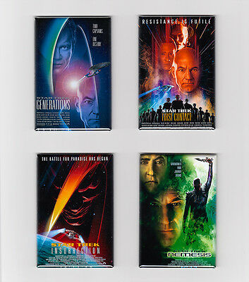STAR TREK THE NEXT GENERATION MOVIE POSTER MAGNETS (generations nemesis print - Print Magnets