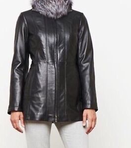 Danier leather coat - Manteau / medium - moyen