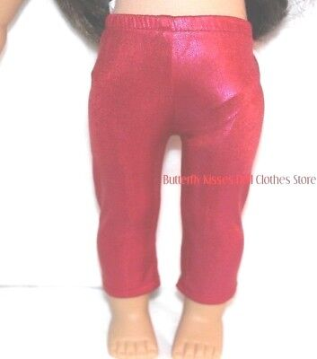 Hot Pink Sparkle Leggings 18 in Doll Clothes Fits American Girl