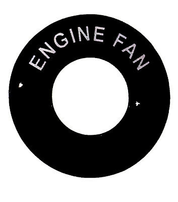 ENGINE FAN - Lucas Toggle Switch Round Dash Tag - Classic Car Kit Hot Rod