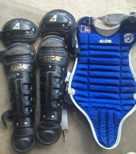 Catcher pads and chest protector
