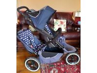 Phil & Teds Sport Double or Single Pushchair - tandem buggy