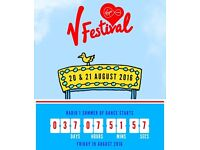 V Festival (Chelmsford) weekend Red camping tickets X 2