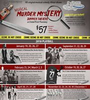 Save $3/ticket on Musical Murder Mystery Dinner Theatre Tickets