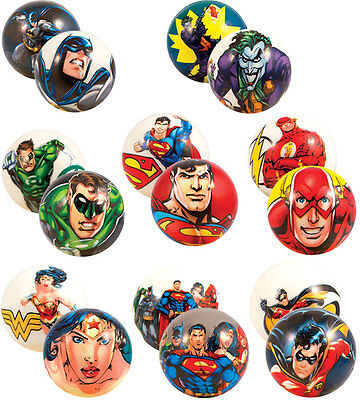 15 DC COMICS DOUBLE SIDED FOAM BALLS, BATMAN SUPERMAN WONDER WOMAN, THE JOKER - Wonder Balls
