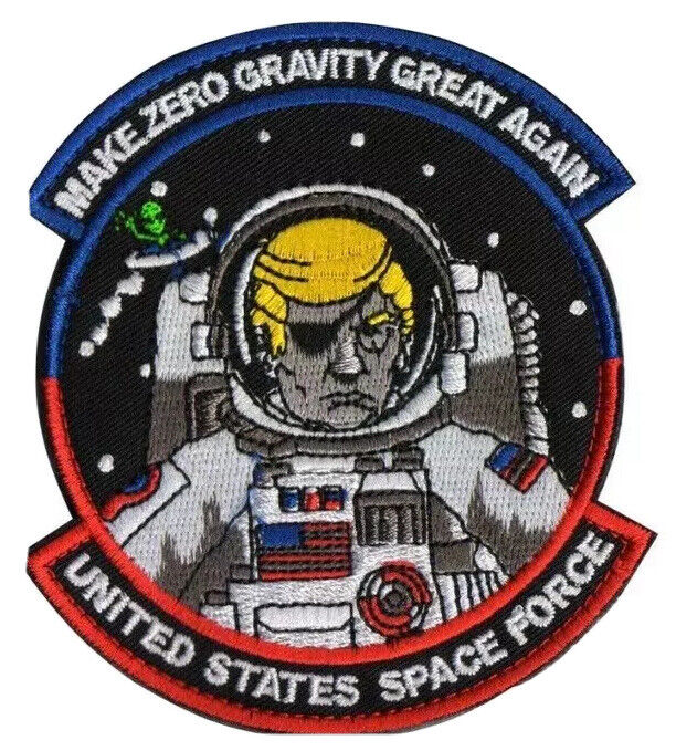 """DONALD TRUMP SPACE FORCE PATCH IRON-ON Election 2020 NASA MORALE PATCH 3.5"""""""