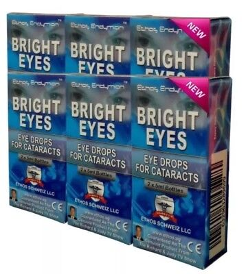 Ethos Bright Eyes NAC Eye Drops for Cataracts 6 Boxes 60ml
