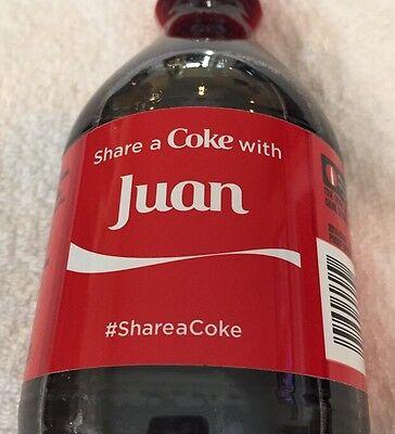 Share a COKE with Juan 20 fl oz Collectible Bottle Rare Coca-Cola HTF Name
