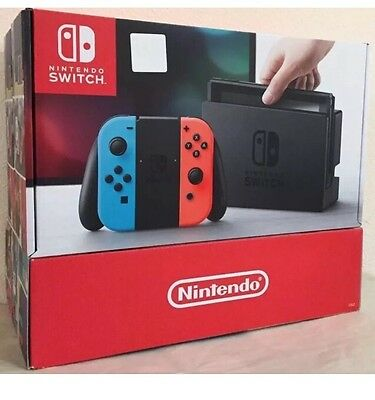 SEALED Nintendo - Switch 32GB Console - Neon Red / Neon Blue Joy-Con SHIPS FAST