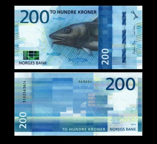 NORWAY 200 KRONER 2017 YEAR P NEW UNC