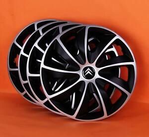 16 citroen c4 c5 etc wheel trims covers hub caps quantity 4 ebay. Black Bedroom Furniture Sets. Home Design Ideas