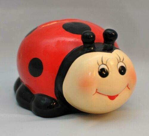 VINTAGE Whimsical Ladybug Piggy Bank