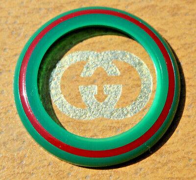 New Vintage GUCCI Signature Red Green Stripe Plastic Bezel 1100L 1200L Watch