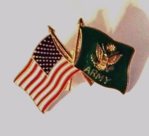 U.S. Army and United States Flag Hat Pin