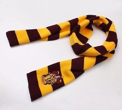 "Harry Potter Gryffindor Scarf Red & Gold Cosplay Costume Knit Wool 63"" US Seller"
