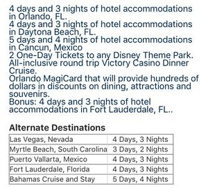 6 vacation  package  deals !!!