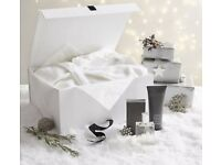 Luxury white Company indulgence hamper including aftershave, robe & shower gel RRP £140