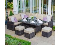 Garden or Conservatory Sofa Table and stools