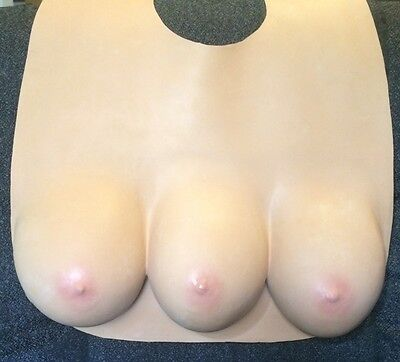 3-BOOBS-BREASTED-LADY-FREAK-SHOW-COSTUME-TRIPLE-FAKE-FALSE-BREASTS-TOTAL-RECALL - 3 Boobs