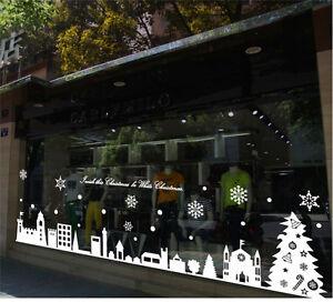Large Christmas shopwindow Stickers Wall window Decoration Vinyl XMAS shop Decal